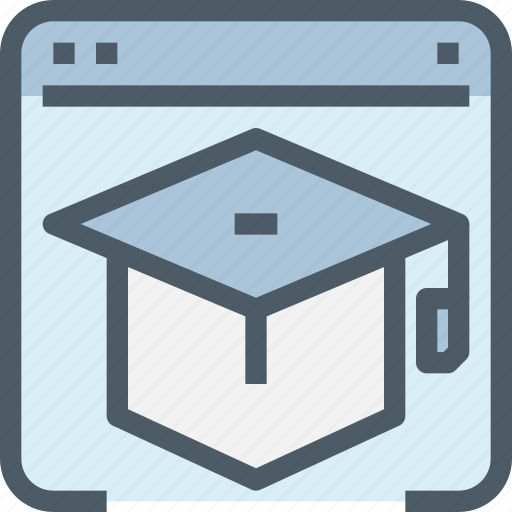 Browser, education, hat, learn, learning, online, school icon - Download on Iconfinder