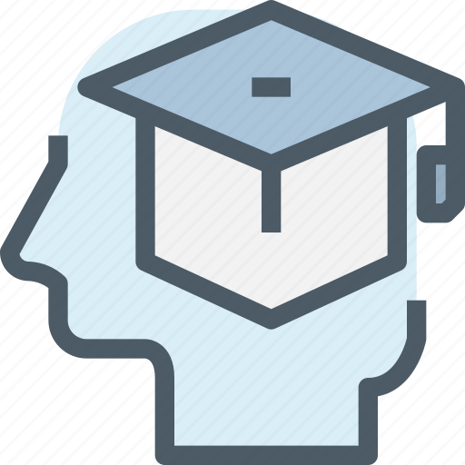 education, graduation, head, human, learnd, learning, mind icon