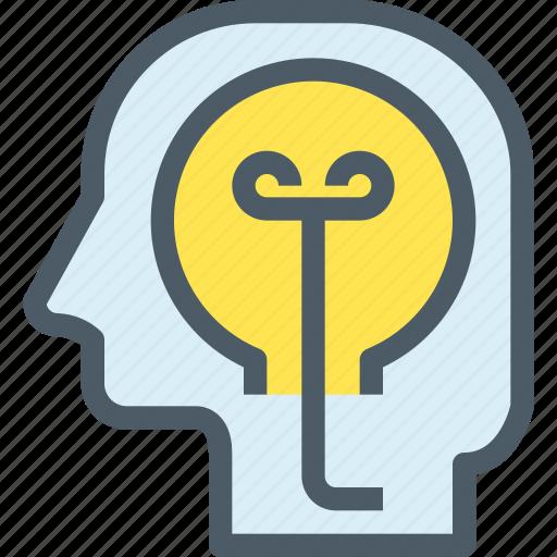 creative, education, human, idea, learning, mind, thinking icon