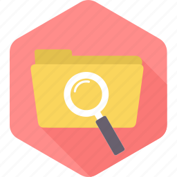 document, file, files, folder, scan, scanning, search icon