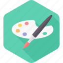 art, brush, drawing, paint, paint brush, paintbrush, painting icon