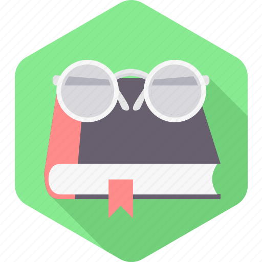 book, bookmark, education, learning, spectacles, view, zoom icon