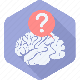 brain, faq, help, idea, info, information, question icon