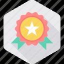 badge, star, winner, achievement, award, medal