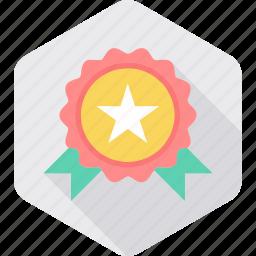 achievement, award, badge, medal, star, winner icon