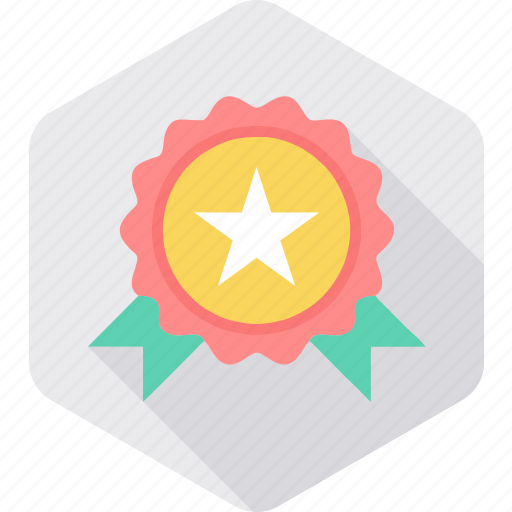 achievement, award, badge, medal, star, winner icon