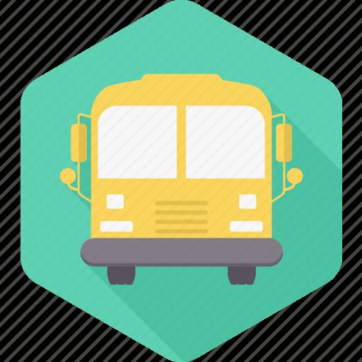 bus, education, school, transport, transportation, van, vehicle icon