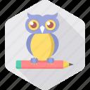 classroom, owl, smartclass, classes, education, teacher, smart classes icon