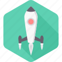 business, inaugration, launch, missile, rocket, spaceship, start icon