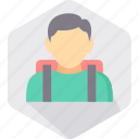 bag, boy, education, learning, school, school bag, student icon