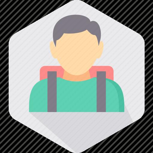 bag, boy, education, learning, school, school bag, student icon