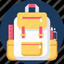 bag, educate, education, learning, school, study