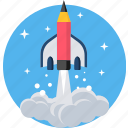 education, learn, learning, missile, schooling, study, studying icon