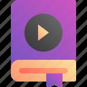 audio, audiobook, book, play icon