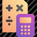 calculator, count, math, school
