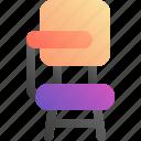 chair, class, school, study icon