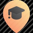 education, location, pin, school