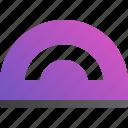 corner, length, protractor, school icon