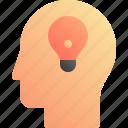 bulb, creative, idea, smart