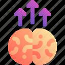 arrow, brain, improve, smart, up icon