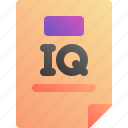 intelligence, iq, score, test icon