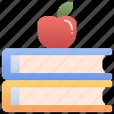 apple, books, education