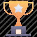 achievement, star, trophy
