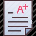 exam, grade, result icon