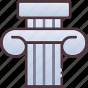 column, ancient, history icon