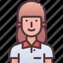 student, female, girl icon