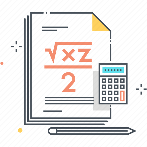 calculator, education, lesson, math, mathematics, numbers, paper icon