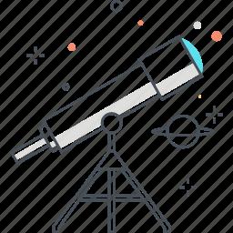 astronomy, education, lens, lesson, physics, science, telescope icon