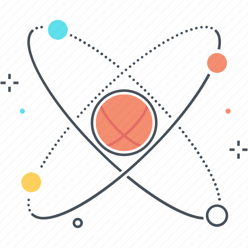 atom, education, lesson, molecular, physics icon