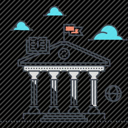 achitecture, ancient, building, historical building, history, lesson, school icon