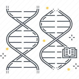 biology, biotechnology, chain, genome, life, molecule, science icon