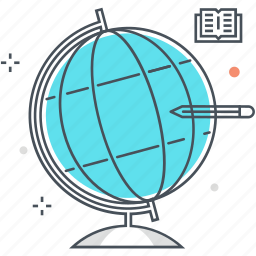 earth, earth globe, education, geography, globe, planet earth, world icon