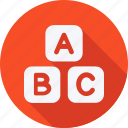 abc, education, reading, school, schooling, student, study icon