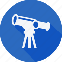 education, reading, school, schooling, student, study, telescope icon