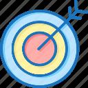 arrow, bull, bullseye, target icon
