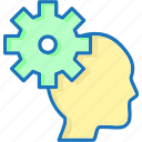 avatar, head, setting, thinking icon