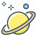astronomy, planet, saturn, science, space icon