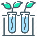 biology, botany, experience, experiment, sprouts, test, tubes icon