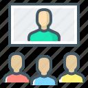 education, lecture, lesson, webinar, online, online lesson icon