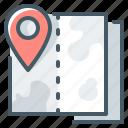 cartography, gps, location, map, navigation, pin icon