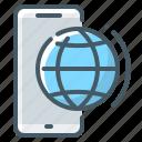 app, globe, mobile, mobile app, phone, smartphone