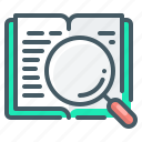 magnifier, search, knowledge, magnifying, learning, book
