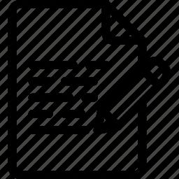 doc, document, edit, file, pencil, text icon
