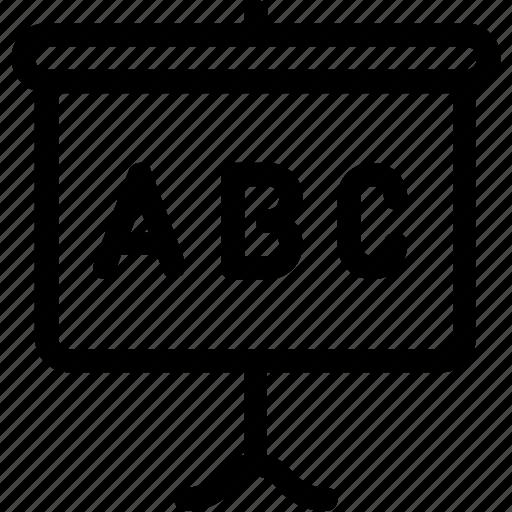 alphabet, education, presentation, school, study icon