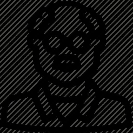academic, avatar, scientist, user icon