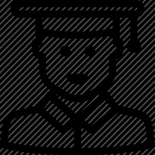 avatar, male, school, student, university, user icon